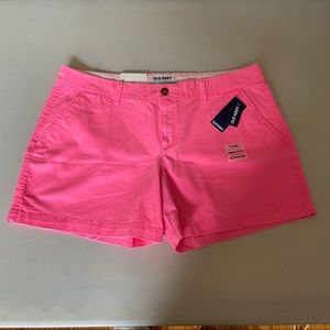 Old Navy Hot Pink Mid Rise Stretch Shorts 12 R